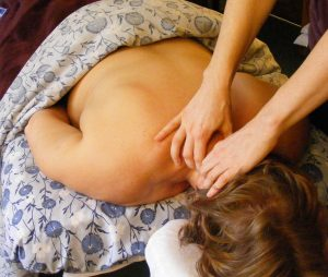 prone neck massage