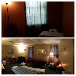 Massage room collage