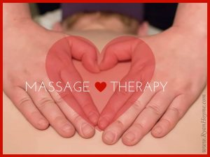 Massage Therapist hands in the form of a heart